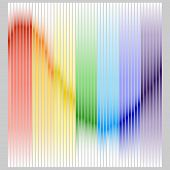 Equalizer Color Band In The Colors Of The Rainbow. Color Equalizer On A Gray Background. Flat Design poster