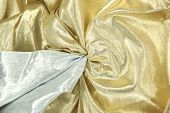 foto of lame  - gold and silver lame background - JPG