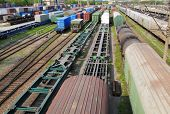 picture of freightliner  - Railway goods station in the russian  Vladivostok - JPG