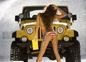 image of car wash  - Models at the car wash - JPG