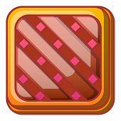 Tasty Cake Icon. Cartoon Of Tasty Cake Icon For Web Design Isolated On White Background poster