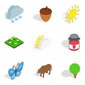 Zoology Icons Set. Isometric Set Of 9 Zoology Icons For Web Isolated On White Background poster