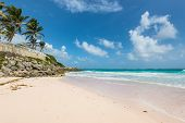 Tropical Beach On The Caribbean Island - Crane Beach, Barbados. The Beach Has Been Named As One Of T poster