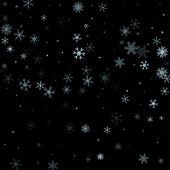 Christmas Falling Snow Vector Isolated On Dark Background. Snowf poster