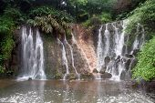 pic of emei  - Waterfall on the basement of mount Emei China - JPG