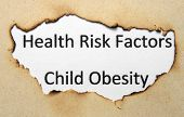 foto of obesity children  - Close up of Health risk factors  - JPG