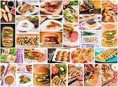 picture of serbia  - Several varieties of the international food in collage - JPG