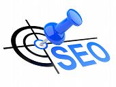 Push Pin With Seo Target