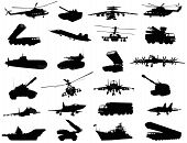 pic of armored car  - Detailed weapon silhouettes set - JPG