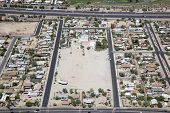picture of guadalupe  - Rooftops of Guadalupe Arizona east of Interstate 10 near Phoenix - JPG