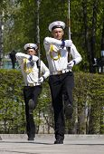 Kiev, Ukraine - May 28 :soldiers Of The Honor Guard During A Tra