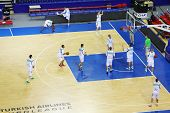 MOSCOW - SEP 29: Zalgiris team (Lithuania) trains before match in tournament for cup named Gomelsky