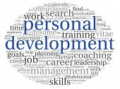 pic of self assessment  - Personal development concept in word tag cloud on white - JPG