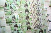 stock photo of won  - Korea South Korean Won bank notes various denominations - JPG