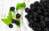 Plate With Blackberries