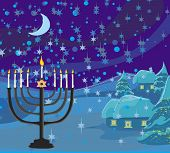 picture of hanukkah  - Winter Christmas scene  - JPG