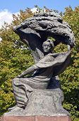 image of chopin  - Monument Frederic Chopin seeking inspiration under a willow tree in Warsaw Poland - JPG