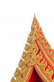 image of apex  - Gable apex on the roof of the temple on white background - JPG