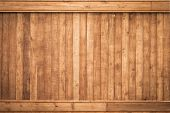 stock photo of wood design  - Big Brown wood plank wall texture background - JPG