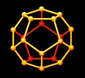 stock photo of dodecahedron  - A Platonic solid in geometry - JPG