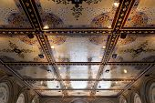 picture of arcade  - New York City central park Bethesda Terrace underpass arcade detail - JPG