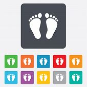 foto of footprint  - Child pair of footprint sign icon - JPG