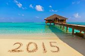 image of beach-house  - Numbers 2015 on beach  - JPG
