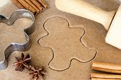 pic of christmas cookie  - Baking Christmas gingerbread cookies - JPG