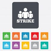 picture of striking  - Strike sign icon - JPG