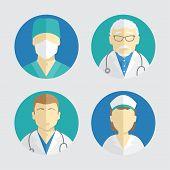pic of nurse practitioner  - illustration of flat design - JPG