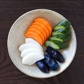 stock photo of pickled vegetables  - Traditional Japanese vegetable pickle  - JPG
