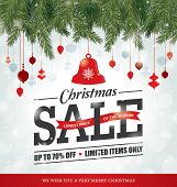 stock photo of christmas bells  - Christmas sale poster - JPG