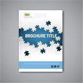 foto of booklet design  - Modern Vector abstract brochure - JPG