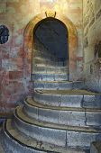 stock photo of golgotha  - Stairs to Golgotha in the Holy Sepulchre - JPG