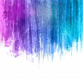 pic of violets  - Blue Violet Paint Splashes Gradient Background - JPG