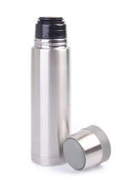 stock photo of thermos  - Thermo flask on the white background - JPG