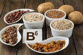 stock photo of ingredient  - Ingredients rich in vitamin B6 - JPG