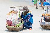 pic of peddlers  - Rayong Koh Samet Thailand  - JPG