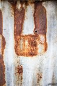 image of roof-light  - Rust old zinc roof rusty abstract background