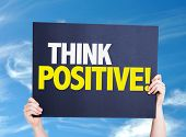 foto of feeling better  - Think Positive card with sky background - JPG