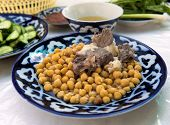 pic of tagine  - Braised lamb with peas  - JPG