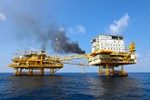 image of offshore  - oil and gas construction in offshore for production - JPG