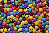 image of blue  - Closeup of the pile of colorful sweet bonbons - JPG