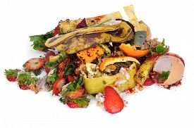 stock photo of waste reduction  - a pile of food waste - JPG