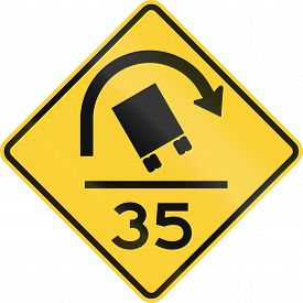 picture of mph  - US warning traffic sign - JPG