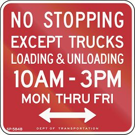 picture of truck-stop  - US traffic sign - JPG