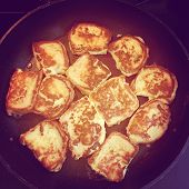 picture of french-toast  - intstagram of delicious french toast cooking on pan - JPG