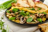 foto of french-toast  - Omelet with mushrooms lamb - JPG