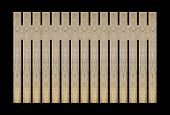 foto of wooden fence  - Background wooden fence The close proximity of green wood fence panels - JPG