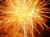 stock photo of firework display  - orange burst - JPG